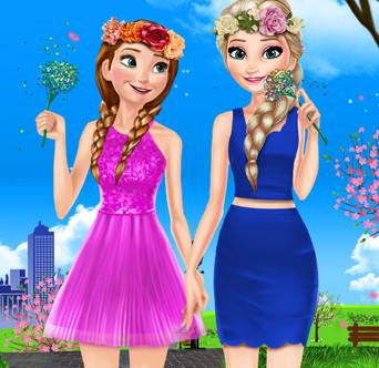 Эльза и Анна: В Эренделле весна