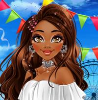 Принцесса Моана на фестивале Коачелла