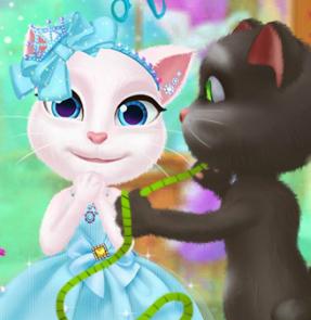 Кот Том дизайнер одежды для кошки Анжелы