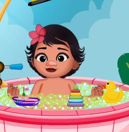 Ванна для крошки Моаны