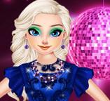 Элегантное синее платье для принцессы Эльзы